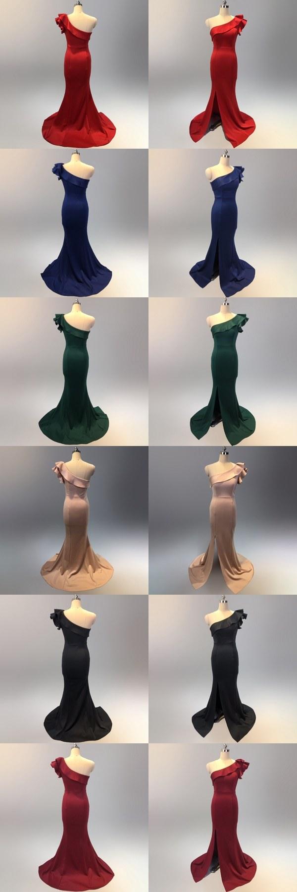 Ide Gaun Pengantin Muslimah Big Size Q0d4 7 Colors E Shoulder Long evening Dress