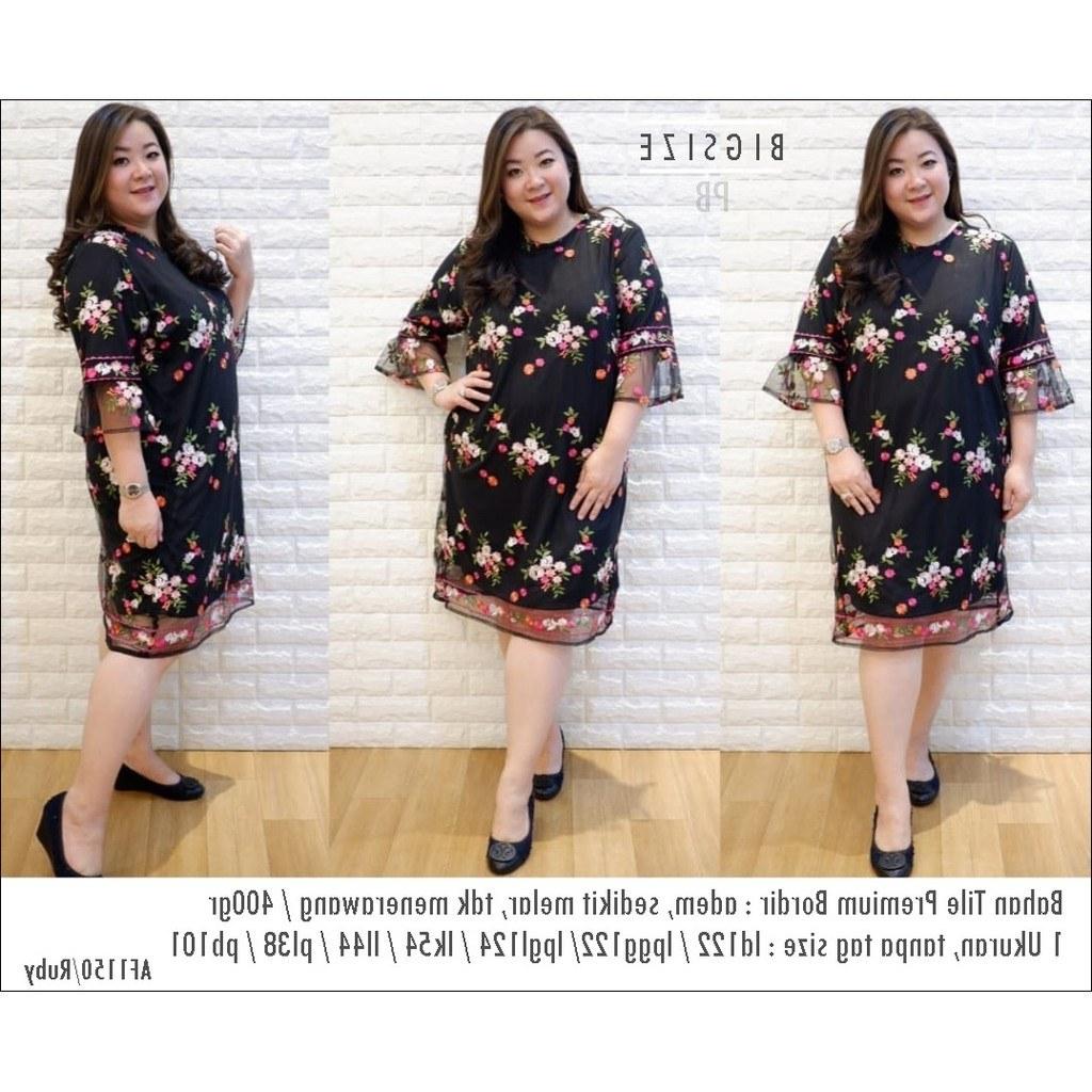 Ide Gaun Pengantin Muslimah Big Size Rldj Ruby Jumbo Dress Brokat Bigsize Terusan Big Size Dress Brukat