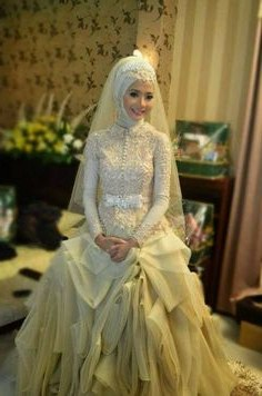 Inspirasi Baju Kebaya Pengantin Muslim Rldj Safira Vitanona1 On Pinterest