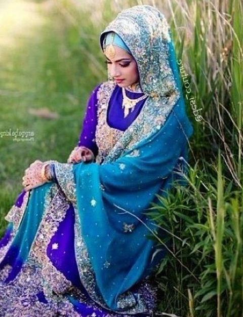 Inspirasi Gaun Pengantin Muslim India 3id6 Contoh Baju Sari India Muslim Baju India Di 2019