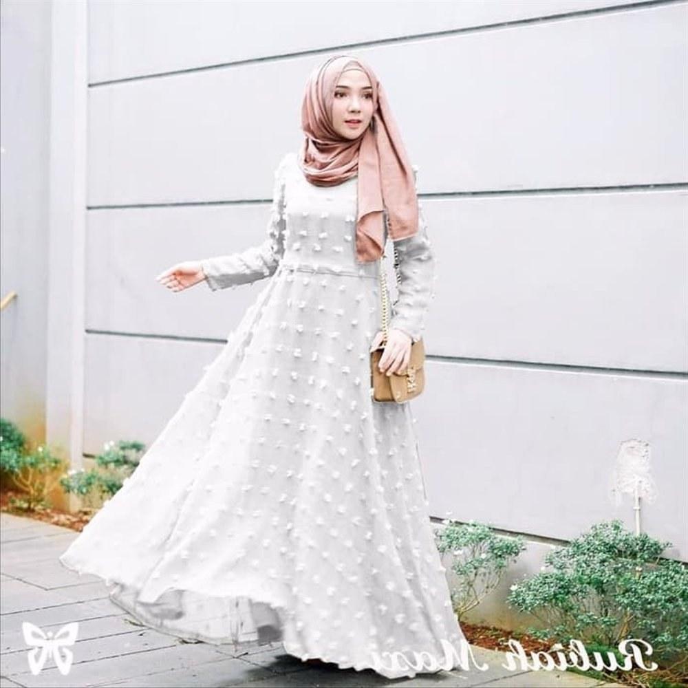 Inspirasi Gaun Pengantin Muslim Sederhana Rldj Wanita Sepatu 16