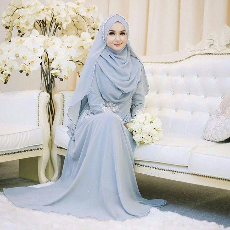 Inspirasi Gaun Pengantin Muslim Sederhana Tldn Brilian Listiana Visi Blistianavisi On Pinterest