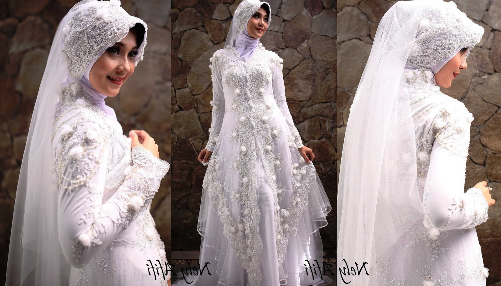 Inspirasi Inspirasi Gaun Pengantin Muslimah Nkde 43 Inspirasi Terpopuler Baju Pengantin Muslim Sederhana Putih