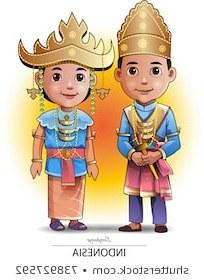 Model Baju Pengantin Muslim Adat Jawa Mndw Wedding Illustration Traditional Stock Vectors