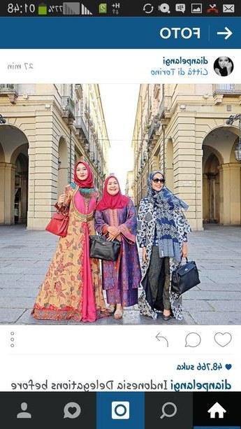 Model Gaun Pengantin Muslim Dian Pelangi Ffdn Gamis Batik