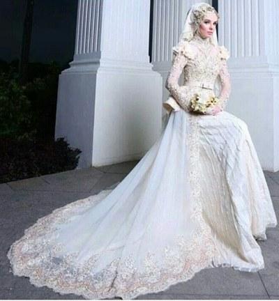 Model Gaun Pengantin Muslim Dian Pelangi Wddj 44 Gaun Pernikahan Wanita Muslim Baru