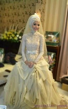 Model Gaun Pengantin Muslimah 2016 3id6 10 Gambar Bursa Berita Lampung Terbaik Di 2016