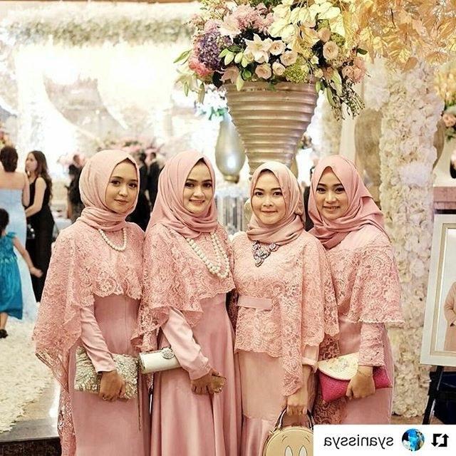 Model Gaun Pengiring Pengantin Muslim Whdr Kebaya Seragam Lace