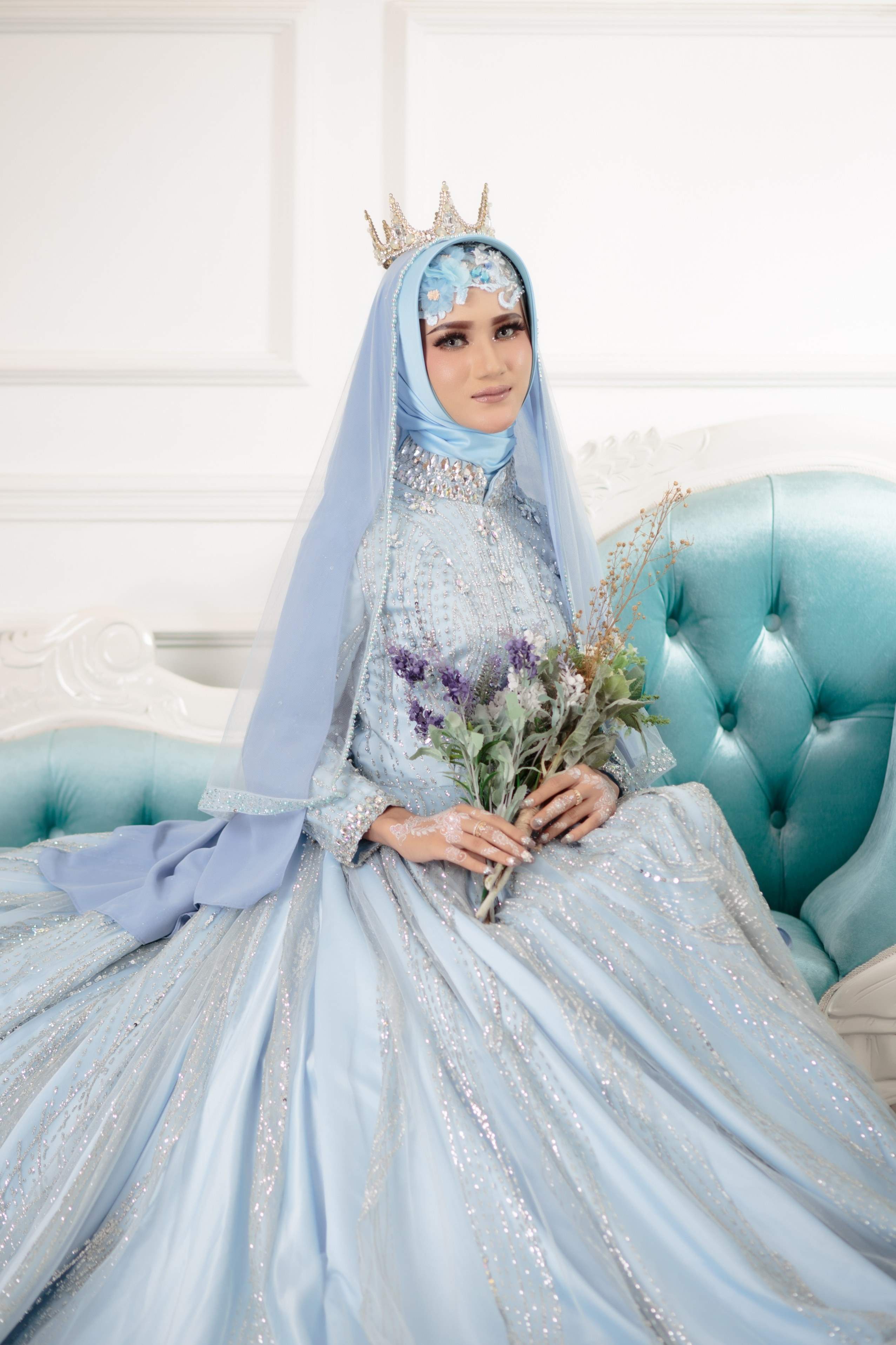 Model Gaun Pengiring Pengantin Muslim Whdr Model Gaun Pengantin Wow Model Busana Muslim 2019 Contoh