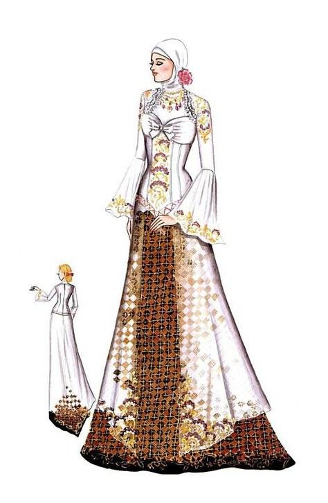 Model Sketsa Gaun Pengantin Muslimah Ftd8 List Of Desain Baju Sketsa Depan Belakang Images and Desain