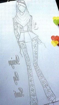Model Sketsa Gaun Pengantin Muslimah Zwdg Fashion Muslim Sketch
