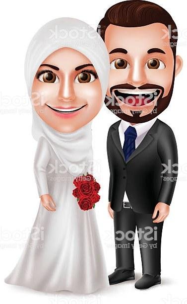 Bentuk Baju Gamis Pernikahan Muslimah 3ldq Muslim Wedding Free Vector Art 26 Free Downloads