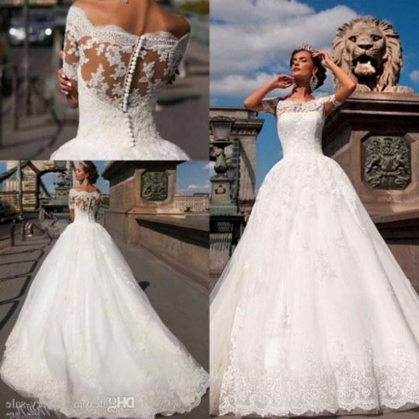 Bentuk Bridesmaid Dress Hijab Bqdd Lace Long Sleeve Wedding Gowns Best Stunning High Collar