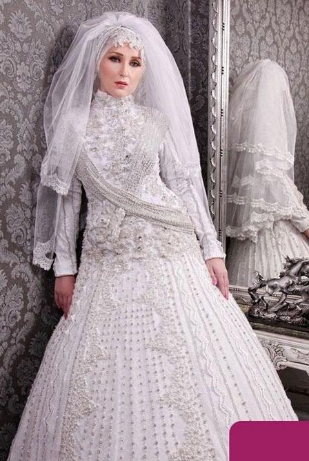 Bentuk Bridesmaid Dress Hijab Kvdd Discount Luxury Crystal Beaded Arabic Dubai Muslim Hijab