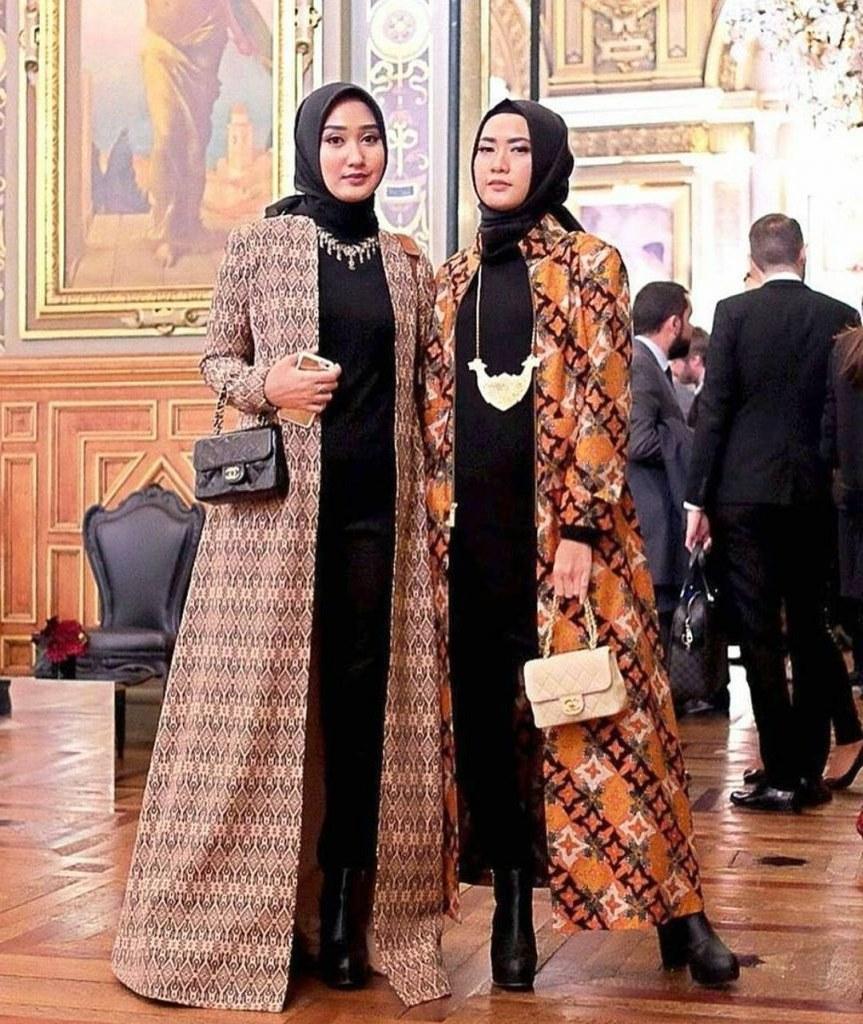 Bentuk Gamis Batik Seragam Pernikahan 3ldq 30 Model Gamis Batik Seragam Pernikahan Fashion Modern