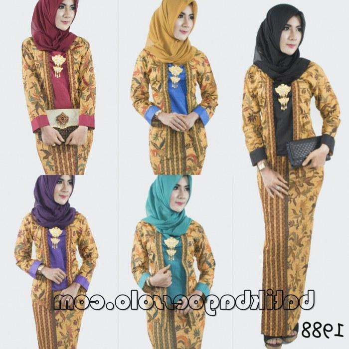 Bentuk Gamis Batik Seragam Pernikahan 87dx 21 Model Gamis Batik Terbaru Untuk Pesta