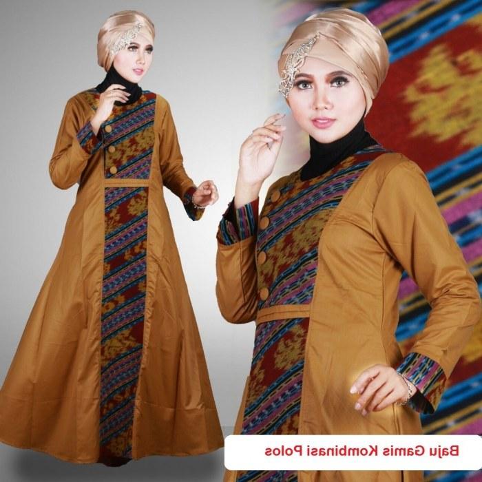 Bentuk Gamis Batik Seragam Pernikahan Drdp 21 Model Gamis Batik Terbaru Untuk Pesta