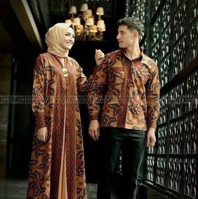 Bentuk Gamis Batik Seragam Pernikahan Etdg Model Baju Batik Pesta Pernikahan 2019