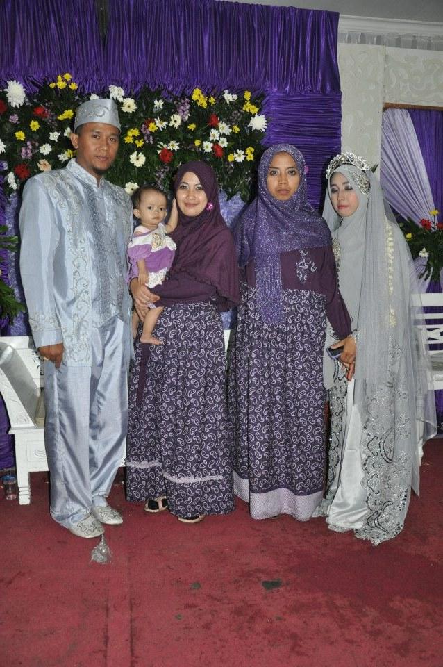 Bentuk Gamis Batik Seragam Pernikahan Qwdq Warung Muslimah Baju Muslim Modern Flowery Line