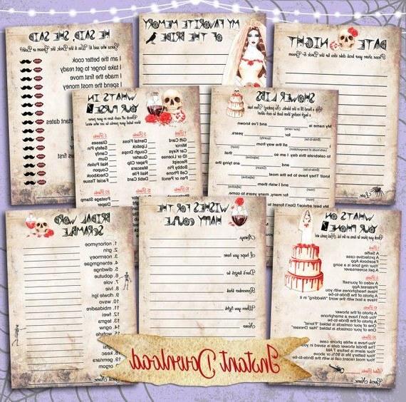Bentuk Gamis Pernikahan 9ddf Bridal Shower Games Printables Halloween Ghost Bride