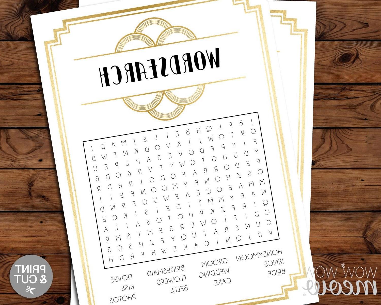 Bentuk Gamis Pernikahan Ffdn Art Deco Bridal Shower Word Search Game 1920s Bachelorette