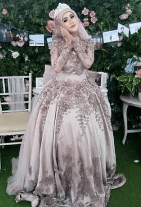 Bentuk Gamis Pernikahan Modern H9d9 Model Baju Gamis Untuk Pesta Pernikahan