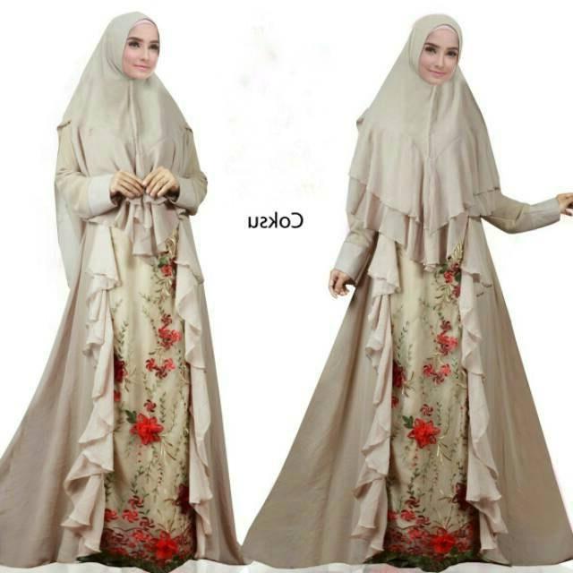 Bentuk Gamis Pernikahan Modern Nkde Model Baju Gamis Untuk Akad Nikah Modern Imelda Syari Putih