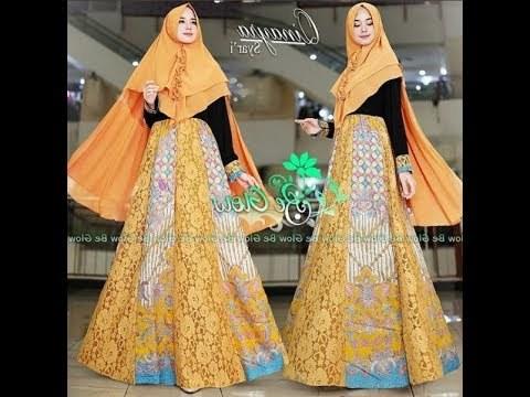 Bentuk Gamis Pernikahan Modern S1du Model Gamis Batik Untuk Pesta Pernikahan 2017 2018 Cantik