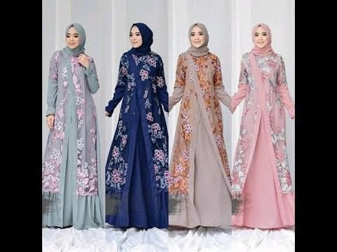 Bentuk Gamis Pernikahan Muslimah 3id6 Videos Matching Model Gamis Brokat Dan Kombinasi Brokat