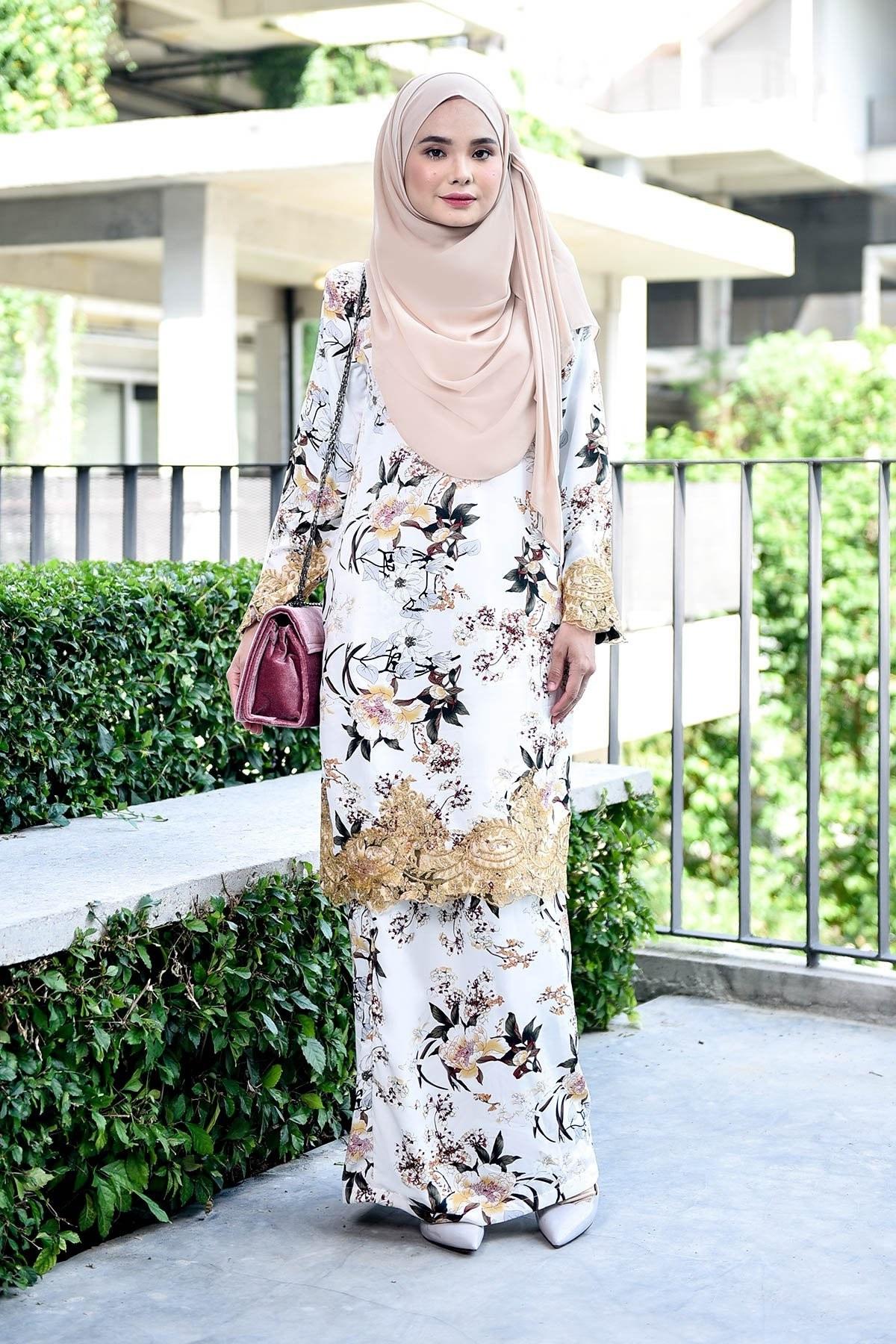Bentuk Gamis Pernikahan Muslimah S1du Gamis Pengantin Inspiratif Baju Aloha Flowy Batik Harga Ini