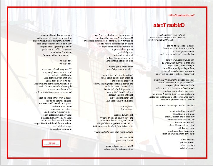 "Bentuk Gamis Pernikahan Xtd6 Chicken Train "" A Poem by Terry Minchow Proffitt Broad"