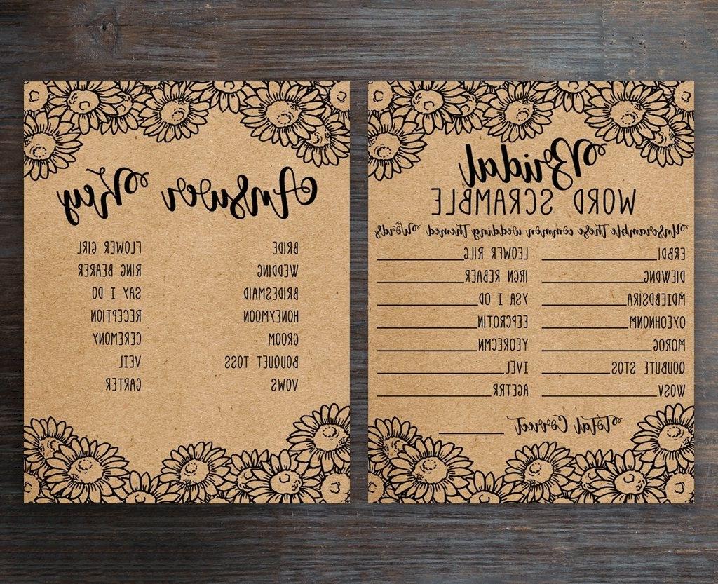Bentuk Gamis Pernikahan Y7du Bridal Word Scramble Bridal Shower Games Bridal Shower