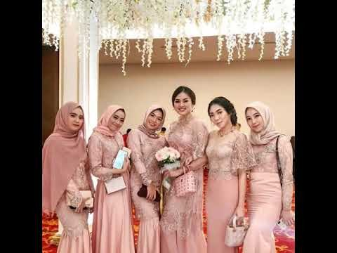 Bentuk Model Baju Bridesmaid Hijab Brokat 87dx Videos Matching Inspirasi Kekinian Gaun Kebaya Pesta Mermaid