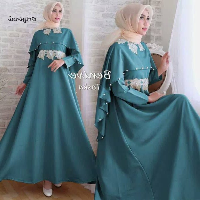 Bentuk Model Gamis Untuk Resepsi Pernikahan O2d5 30 Model Baju Gamis Pesta Pernikahan Modern Fashion