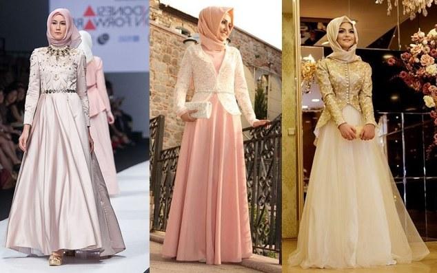 Bentuk Model Gamis Untuk Resepsi Pernikahan Wddj Contoh Model Baju Pesta Bagi Wanita Muslim Model Busana