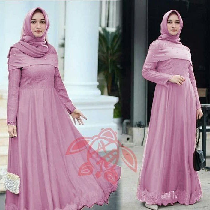 Bentuk Seragam Bridesmaid Hijab Tldn Jual Od Baju Gamis Maxi Maxy Long Dress Bridesmaid Maxi Sabrina Tile Dusty Tulis Warna Dki Jakarta Ferisna Os