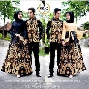 Design Gamis Resepsi Pernikahan S5d8 Batik Couple Pesta Pernikahan