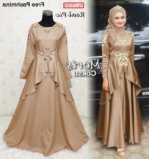 Design Model Baju Gamis Untuk Resepsi Pernikahan Ffdn 30 Model Baju Gamis Pesta Pernikahan Modern Fashion