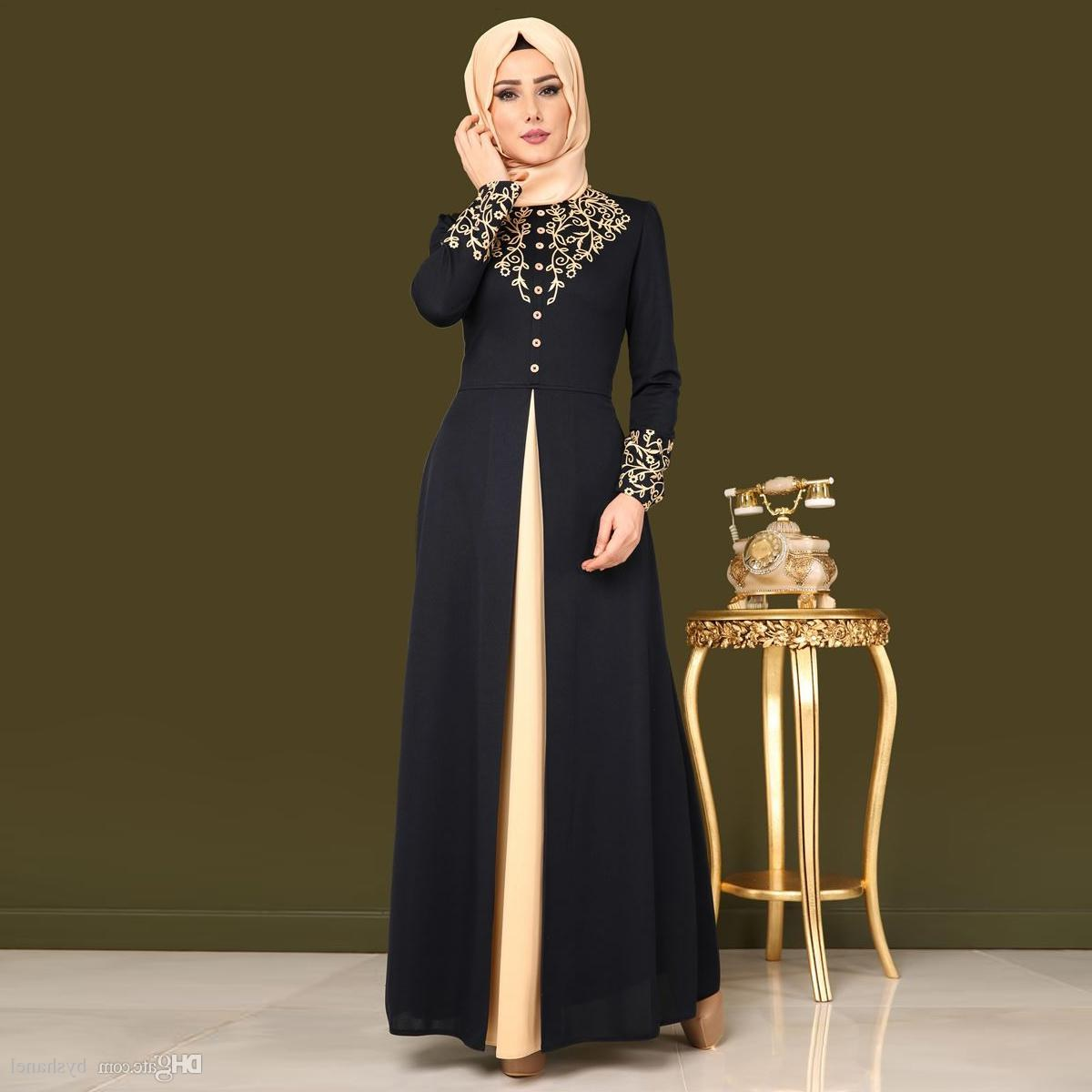 Design Model Dress Bridesmaid Hijab Drdp Women soft Material Dress Muslim Loose Abaya Kaftan islamic Maxi Robe Flower Long Dress for Ramadan