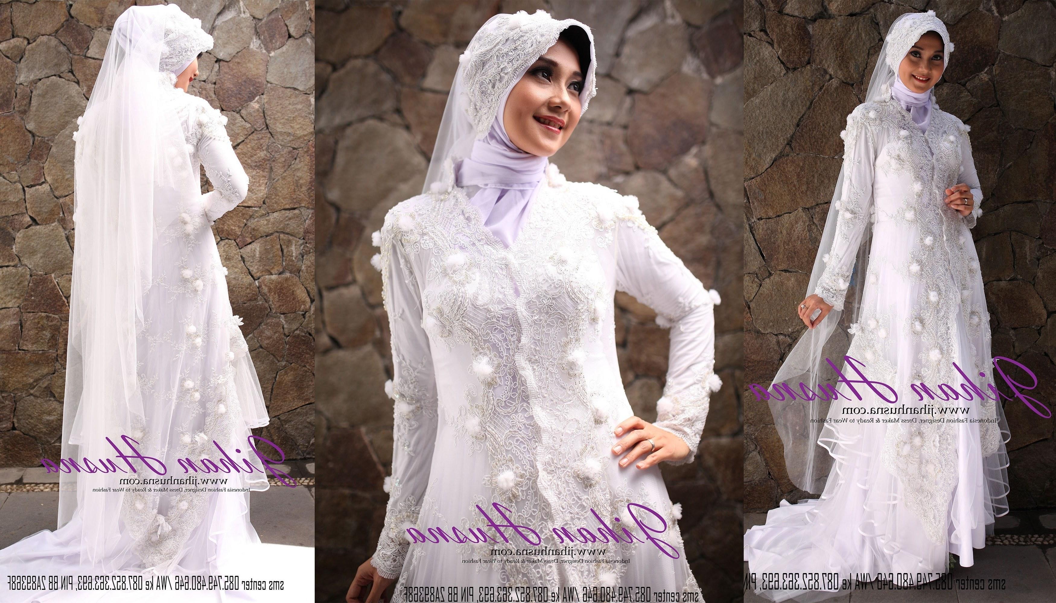 Design Model Gamis Untuk Pernikahan Budm Gamis Pernikahan Cantik Gaya Foto Wedding Kekinian Elegan