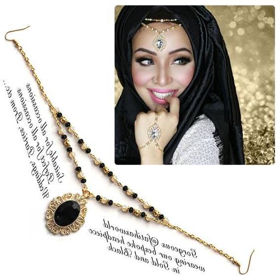 Design Ootd Bridesmaid Hijab E6d5 Gold Silver Black Crystal Kundan Indian Jewelry Matha Patti Tikka Head Chain Bollywood Grecian Hijab Jewellery Bridal Hair Piece Wedding