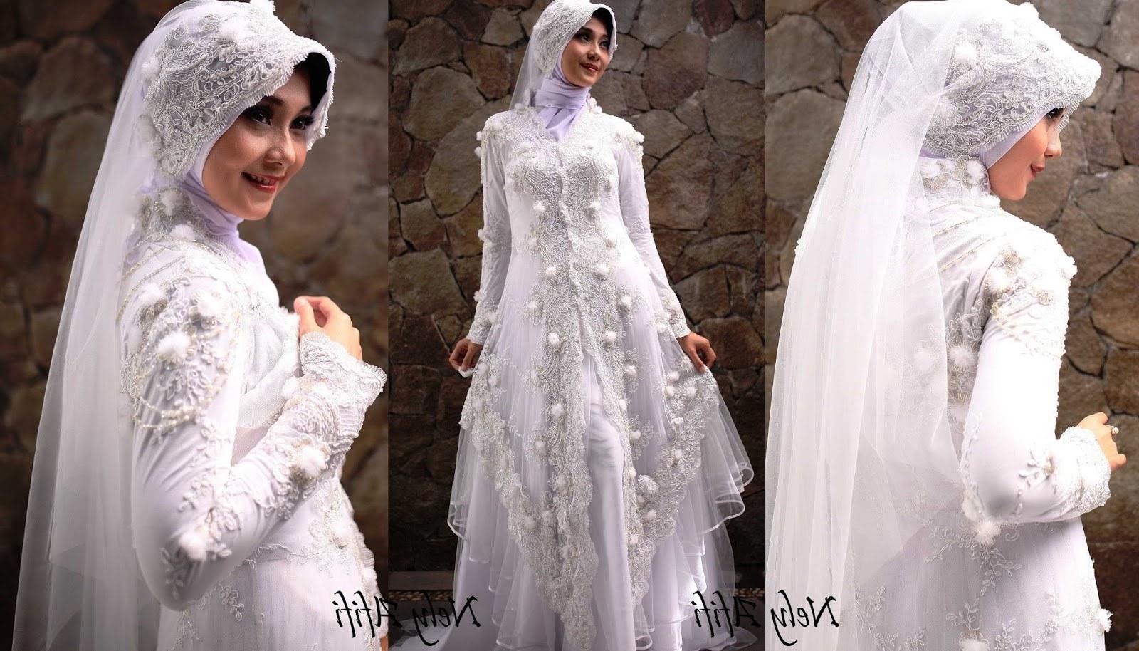 Design Seragam Gamis Untuk Pernikahan Etdg 43 Inspirasi Terpopuler Baju Pengantin Muslim Sederhana Putih