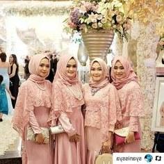 Ide Bridesmaid Hijab Styles 4pde Kebaya Seragam Model Pakaian Hijab In 2019