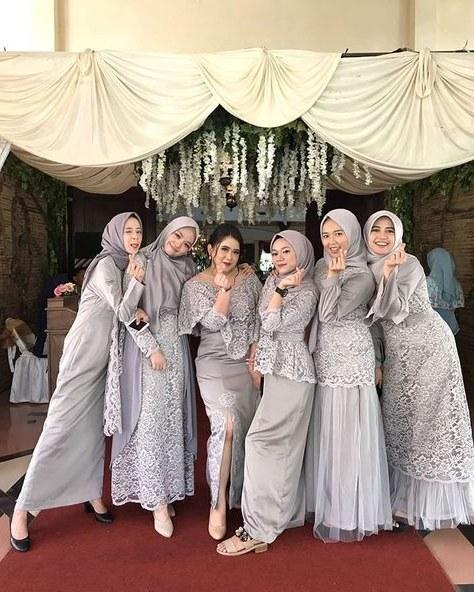 Ide Gamis Pesta Pernikahan Whdr List Of Gamis Pesta Brokat Modern Hijab Fashion Images and