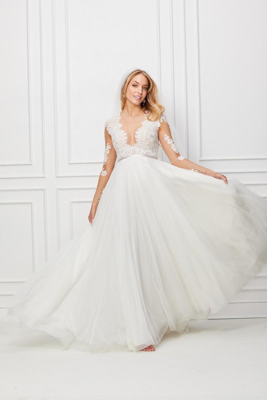 Ide Long Dress Bridesmaid Hijab D0dg Wtoo Camden Long Sleeve Bridal Gown