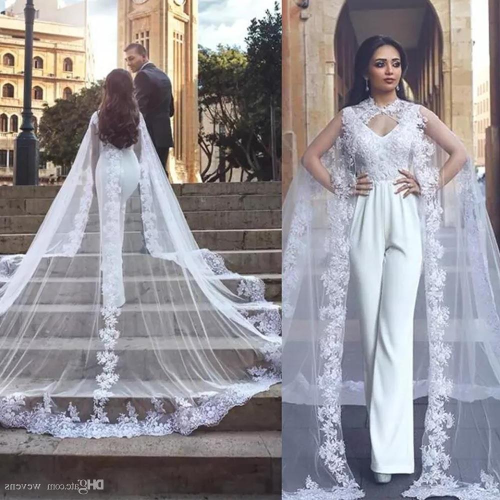 Ide Long Dress Bridesmaid Hijab S1du Designer White High Neck Tulle Bridal Wraps Lace Appliques Edge Sweep Train Wedding Jacket E Layer Long Shawl for Wedding Dress
