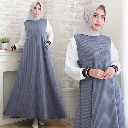 Ide Model Baju Gamis Untuk Pernikahan E6d5 Model Baju Gamis Pesta Terbaru 2019 Wanita