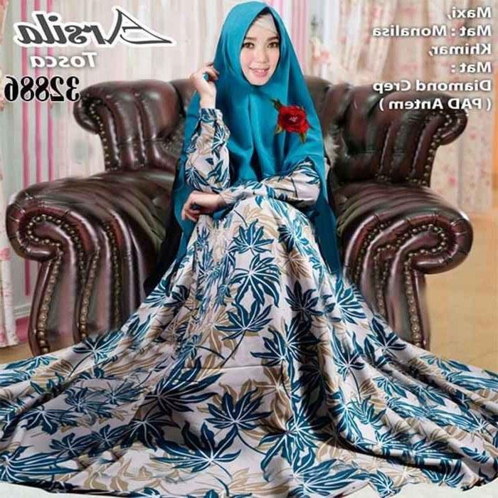 Ide Model Baju Gamis Untuk Pernikahan E9dx Model Baju Gamis Monalisa Terbaru Arsila Gamisalya