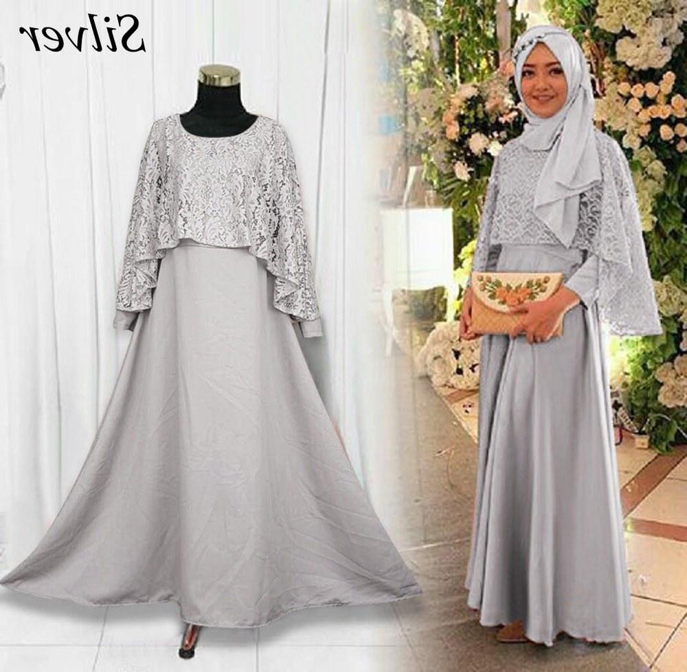 Ide Model Baju Gamis Untuk Pernikahan Ftd8 43 Model Baju Gamis Warna Silver Info Penting
