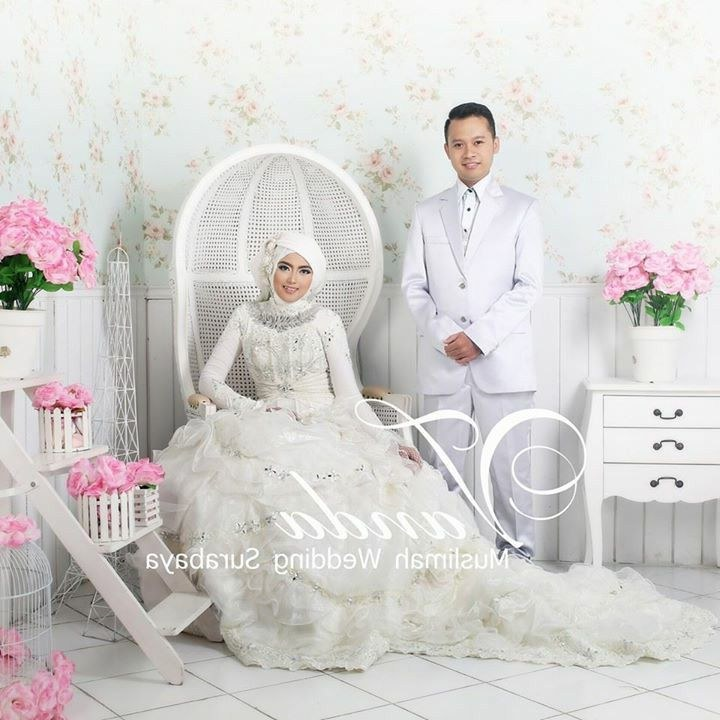 Inspirasi Bridesmaid Indonesia Hijab Thdr Vanda Mua Moslem Wedding Dress T Hijab Bride